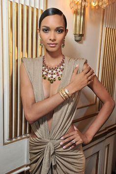 Model wearing Bulgari's Diva jewelry  Photo by Stéphane Feugère