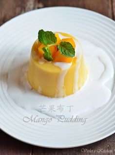 Violet's Kitchen ~♥紫羅蘭的爱心厨房♥~ : 芒果布丁 Mango Pudding