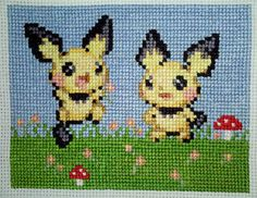 Pichus Love the Springtime cross stitch by starrley.deviantart.com on @deviantART
