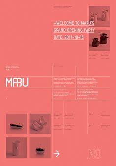 Maru - Party Poster   Designer: Lundgren+Lindqvist