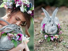 flower adorned bunny topiary - Google Search - Too Cute!