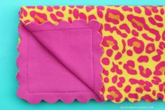 fleece blanket to sew! must make!