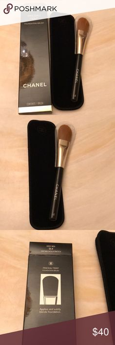 NWT Authentic Chanel Foundation Brush # 16 NWT Authentic Chanel Foundation Brush.  Never been used. No flaws noted.  Authentic Chanel. CHANEL Makeup Brushes & Tools