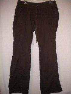 "Old Navy Maternity Size Large X 31"" Inseam Low Rise Stretch Womens Brown Pants…"