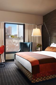 All rooms have a midcentury modern aesthetic. #Jetsetter