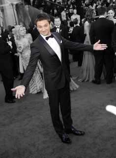 Jeremy Renner.  I'm yours for the taking! :)