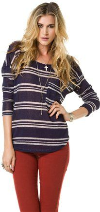 Swell Matey Sweater with some red jeans. love love LOVE THIS!!!! I wish I had an outfit like this!! jealous!