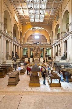 Interior. The Main Hall. Cairo Museum of Egyptian Antiquitiesl.  Cairo, EGYPT