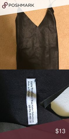 ZARA leather black top size medium trafaluc This is fake leather Zara top. Size medium. Made in Portugal. Fall winter collection Super cute on. Comes from a smoke free home. Zara Tops Tank Tops
