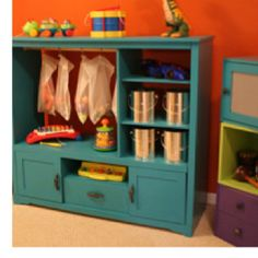 Redo - storage for kids toys  Organic kids Products  http://organicproducts.gr8.com. wanna do this for dress up stuff