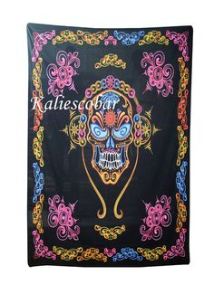 Head Of Skull Indian Mandala Tapestry Hippie Wall Hanging Bohemian Bedspread Hippie Bedding, Bohemian Bedspread, Bohemian Tapestry, Tapestry Curtains, Tapestry Fabric, Mandala Tapestry, Tapestries, Bohemian Dorm, Beach Wall Decor