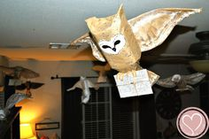 Harry Potter Party -  - Awesome Homemade owls - no instructions
