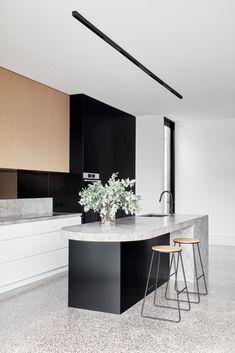 Mediterranean Home Interior Brunswick House. Design by SYNC