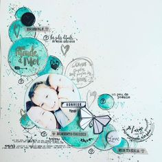 New baby cards boy scrap 58 Ideas Mixed Media Scrapbooking, Scrapbooking Layouts, Mix Media, Scrapbook Sketches, Scrapbook Pages, New Baby Crafts, Bujo, Baby First Christmas Ornament, Graffiti