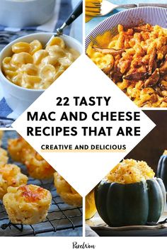 Fact: There is no bad way to eat mac and cheese. To prove it, here are 22 tasty mac and cheese recipes that'll transform your favorite comfort food. #macandcheese #recipe #baked Tasty Mac And Cheese, Macaroni Cheese Recipes, Easy Pasta Recipes, Side Dish Recipes, Cooking Recipes, Best Ever Mac And Cheese Recipe, Healthy Recipes, Pasta Cheese, Cheese Food