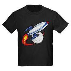 Spaceship Kids Dark T-Shirt > Cute Spaceship > Kids T shirts and more