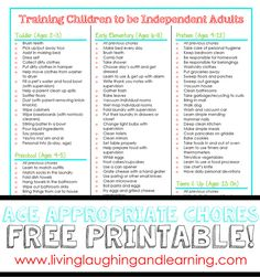 Age appropriate chores for kids & age appropriate chores for kids, age appropriate chores for teens, age appropriate chores charts, age appropriate chores life skills, age appropriate chores montessori Chore Chart Template, Printable Chore Chart, Chore Chart Kids, Free Printable, Chore Chart By Age, Printables, Age Appropriate Chores For Kids, Chores For Kids By Age, 4 Year Old Chores