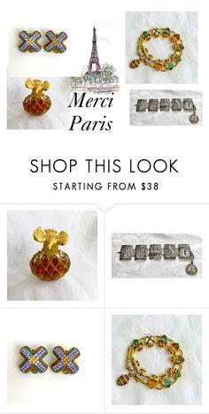 """paris"" by vintagevoguetreasure ❤ liked on Polyvore featuring La Tour Eiffel, Nina Ricci and POGGI"