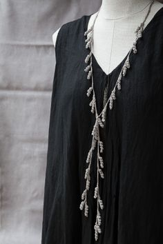 Crochet Tendril Lariat Necklace • Designed by Kelli Ronci • Mother's Day Gift Sale! 40% off Discount Code: mumlove2014