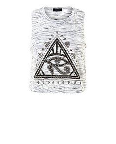 Grey Mystic Triangle Eye Space Dye Cropped Tank Top | New Look
