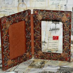 vintage double picture frame home decor richly by CoolVintage