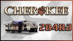 2017 Forest River Cherokee 284RJ Travel Trailer Lakeshore RV Find out more at https://lakeshore-rv.com/forest-river-rv/cherokee/2017-cherokee-284rj-floor-plan/?pr=true call 231.788.2040 or stop in and see one today!  Cherokee 284RJ Spend some quality time with your family in the Cherokee 284RJ!  Let the kids load up their bikes or other large cargo items on the flip down travel rack in the rear.  Getting hitched and unhitched is no sweat with the power tongue jack doing all the heavy…