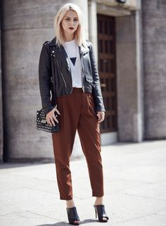 grunge outfit with tribal necklace