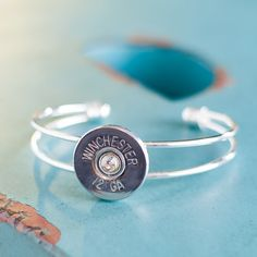 Bullet Bracelet - Bullet Jewelry - Silver Winchester 12 Gauge Shotgun Casing Cuff Bracelet on Etsy, $19.95