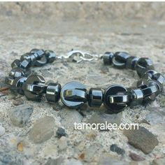"""Rebel Behavior  presents  The """"He-Man' collection 2016. The collection of mens' accessories with made with the mineral Hematite. """"hematite"""" comes from the Greek work for blood and forms in a series of crystalline plates. The mineral is also found on Mars and is believed to be a healing and grounding mineral that can strengthen the body and lessen life's stresses and help with seasickness.  Eyptians used Hematite powder in Egyptian tombs to stop intruders from entering. The Collection consist…"""