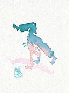 Encres : Capoeira – 317 [ #capoeira #watercolor #illustration]