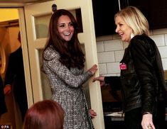 All smiles! The Duchess brushed off the furore to enjoy her visit meeting the residents and staff of the charity she supports