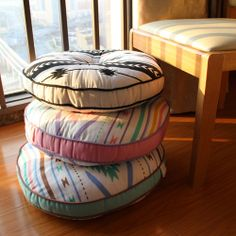 Handmade+100+cotton+cushion+floor+pouf+floor+by+SamanthaAndEmma,+$22.00