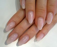 - Care - Skin care , beauty ideas and skin care tips Clear Acrylic Nails, Almond Acrylic Nails, Clear Nails, Natural Acrylic Nails, Almond Nail Art, Almond Shape Nails, Aycrlic Nails, Pink Nails, Cute Nails