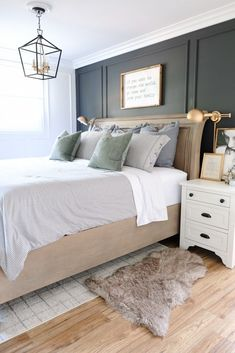 a bedroom painted a soothing neutral like dutch boys may color of
