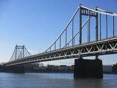 Bridge over the Rhine, near Krefeld.