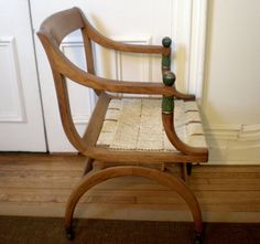 Fruitwood side chair $195
