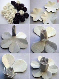 Cool Rose Handmade Paper Flowers Step By Step Paper Flowers Diy, Handmade Flowers, Felt Flowers, Flower Crafts, Fabric Flowers, Felt Roses, Paper Roses, Egg Carton Art, Egg Carton Crafts