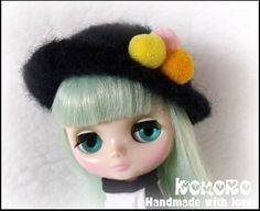 Blythe Middie Felted Hat by kokorogumis on Etsy
