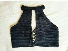 Crochet Crop Top, Diy Crochet, Crochet Bikini, Crochet Designs, Crochet Patterns, Diy Clothes Tops, Crochet Lingerie, Crochet World, Handmade Clothes