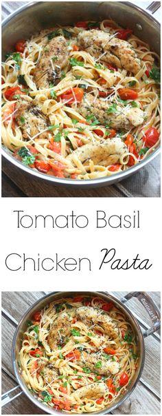 Tomato Basil Chicken Pasta | Budget Savvy Diva