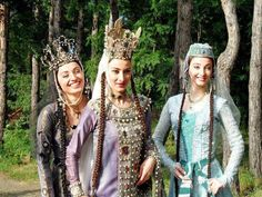 Georgian beauties in amazing traditional costumes.