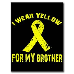 $$$ This is great for          I WEAR YELLOW FOR MY BROTHER POST CARD           I WEAR YELLOW FOR MY BROTHER POST CARD today price drop and special promotion. Get The best buyDiscount Deals          I WEAR YELLOW FOR MY BROTHER POST CARD Online Secure Check out Quick and Easy...Cleck Hot Deals >>> http://www.zazzle.com/i_wear_yellow_for_my_brother_post_card-239027270629347414?rf=238627982471231924&zbar=1&tc=terrest