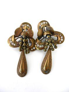 Ancient Rare Bourbonists  earrings 1950  3D design by RAKcreations, $61.00