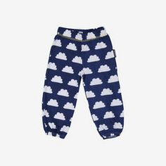 Maxomorra blue cloud baby organic trousers 0-12m