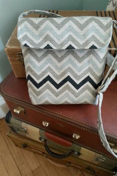Crossbody bag Hip Bag Small Messenger Chevron by BirdOnAWireBags