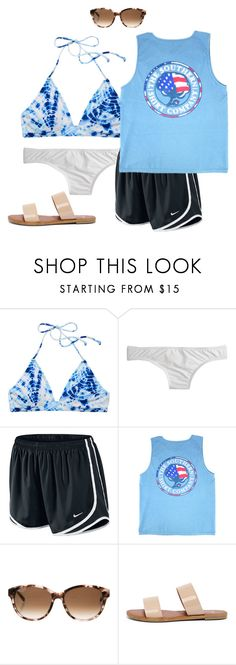 """""""Untitled #2149"""" by elephant10 ❤ liked on Polyvore featuring Victoria's Secret, J.Crew, NIKE, Kate Spade and Bonnibel"""