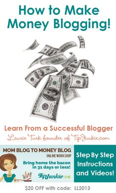 Win a seat to the Mom Blog to Money Blog Online Workshop. ~ This is seriously good stuff!!  Lessons from a blogger and busy mom of three making a six figure income. ** Hurry #giveaway ends Nov. 30, 2013 Enter on LivingLocurto.com