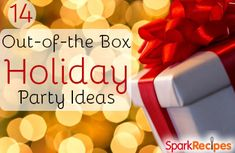 14 Out-of-the Box Holiday Party Ideas | via @SparkPeople #entertaining #holiday #Christmas #party #partyideas