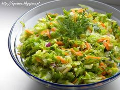 Healthy Salads, Healthy Recipes, Vegetable Lunch, Good Food, Yummy Food, Polish Recipes, Polish Food, Side Salad, Appetisers