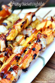 Fruity Chicken Kebabs | One of family favourites. We make these every summer. They are always a huge hit!